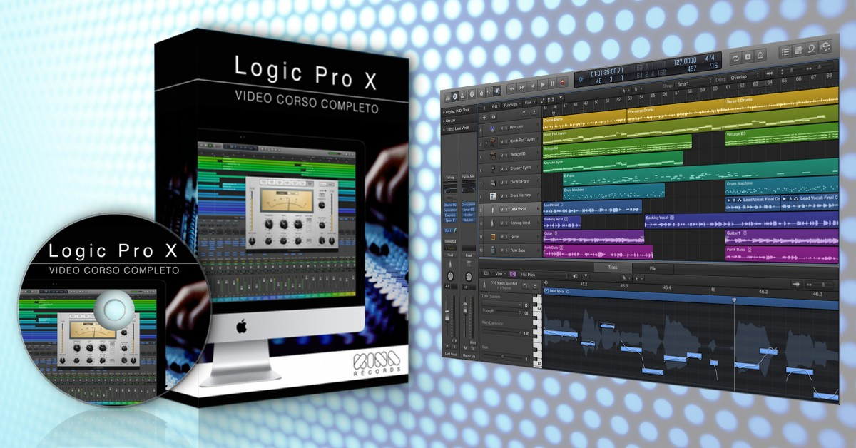 how to change the pitch of audio in logic x