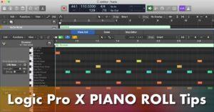 logic pro x piano roll