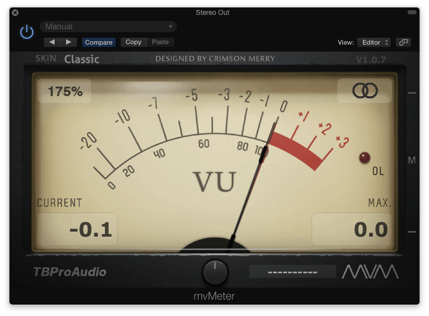 vu meter gain staging