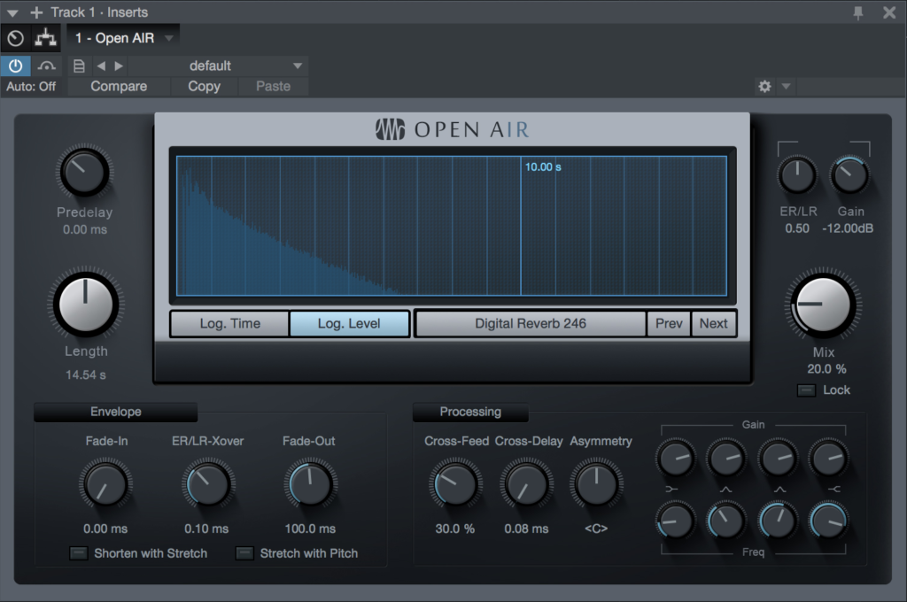 vst di studio one Open AIR Presonus