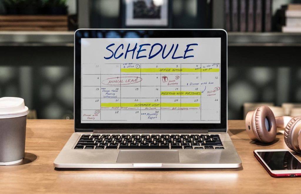 schedule pianificare corso di produzione musicale