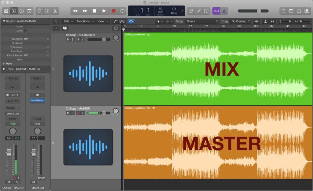 confronto mix e mastering