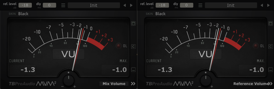 Volume Match VU meter