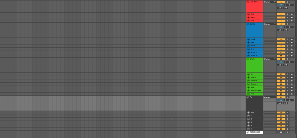 Workflow - Ableton Live Mixing Template